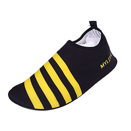 Wet Water Stripe Sports Moresave Aqua Beach Shoes Swim Yellow Barefoot Shoes Unisex Shoes Shoes ppvUSt