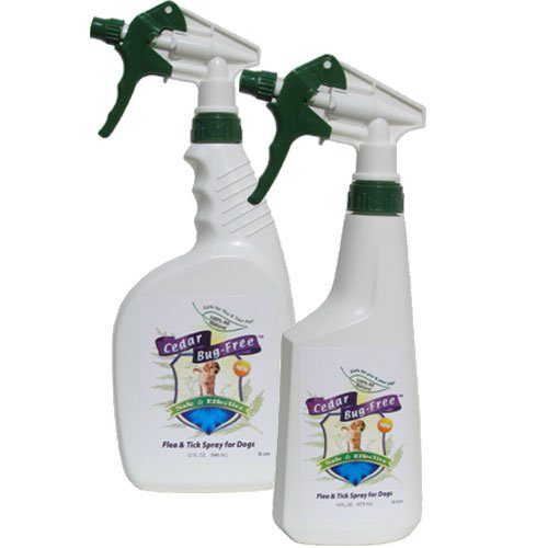 Cedar Bug-Free Flea and Tick Spray for Dogs. Kill Fleas and Ticks. Repellent - (1 gallon) by Cedar Bug-Free