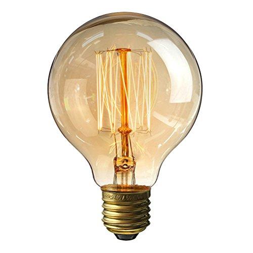 LEDMOMO Vintage Edison 40W Bombilla, luz regulable antigua para lámparas Lámparas apliques ligeras para el hogar, E27 220V...