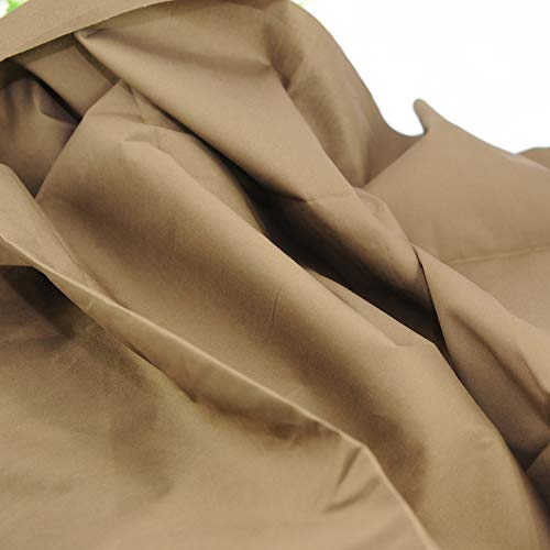 """Pre-Cut Quilting Cotton Fabric Light Brown Color,Good Quality Craft Cloth,DIY for Sewing Crafting 61"""" by 1 Yard Rose Flavor"""