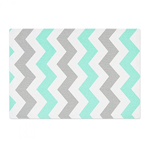 Turquoise/Grey Chevron Placemats 4/pack