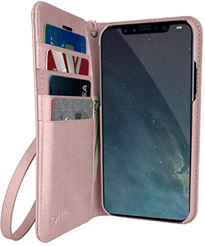 Silk iPhone XR Wallet Case - Keeper of The Things - Folio Wallet Synthetic Leather Portfolio Flip Credit Card Cover with Kickstand - Rosé All Day