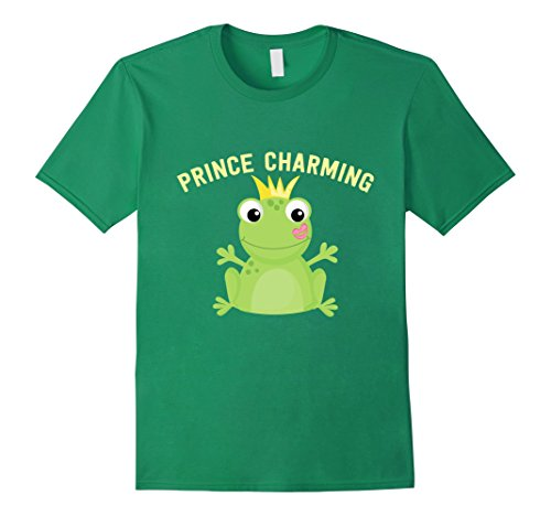 Men's Prince Charming Frog Kiss T-Shirt. Funny Fairy Tale...