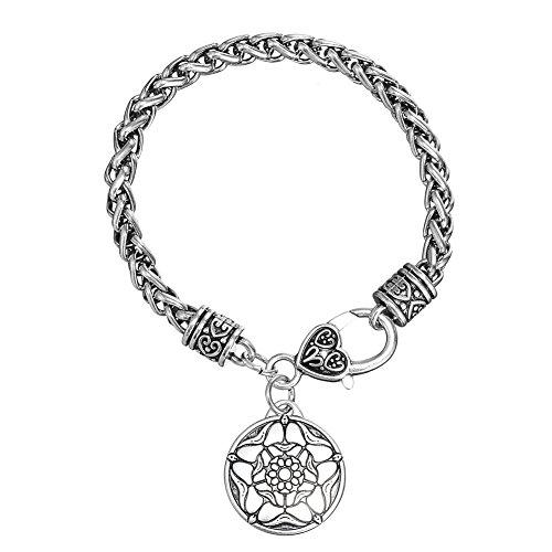Price comparison product image The Tudor Rose Charm Bracelet British Royal Jewelry