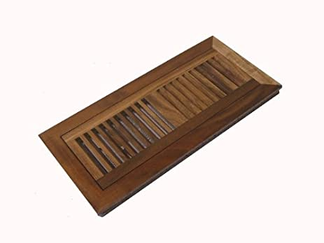 Acacia Walnut Pre Finished Natural Flush Mount Wood Floor Vent