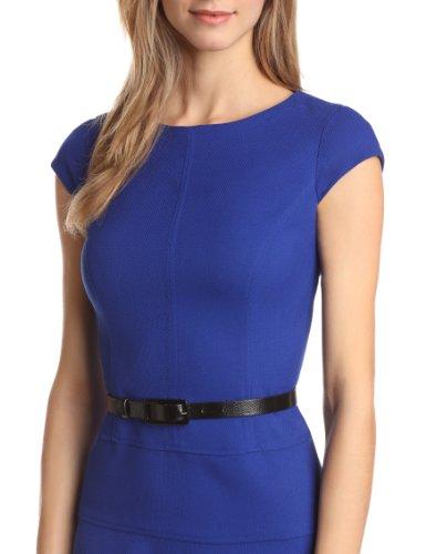 Anne Klein Women's Cap-Sleeve Solid Dress