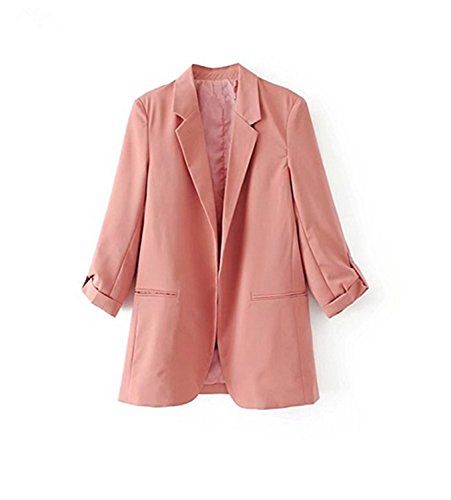 Toping Fine Spring New European Casual Women Blazer Three Quarter Sleeve Lady's Small Suit Coat, XDC7712 BlackMedium by Toping Fine wool-outerwear-coats (Image #4)