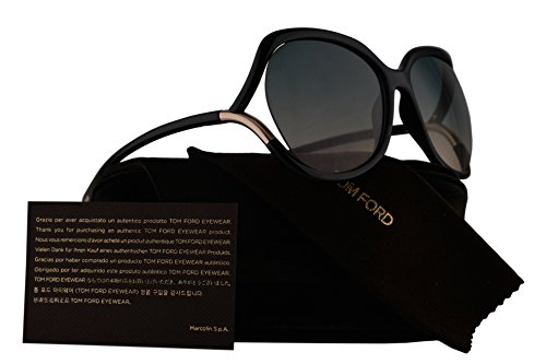 Tom Ford FT0578 Anouk-02 Sunglasses Shiny Black w/Blue Gradient Lens 01W TF578 - Ford Tom Sale
