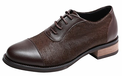 Womens Shoes Ulite Upper Oxford up Vamp Featuring Chocolate Cowhide Leather Hony Comfort Lace at Hair Pieced Soft dw1Iz1xqT