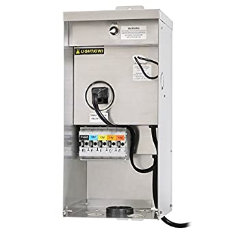 13v 14v 15v multi tap low voltage transformer for landscape lighting