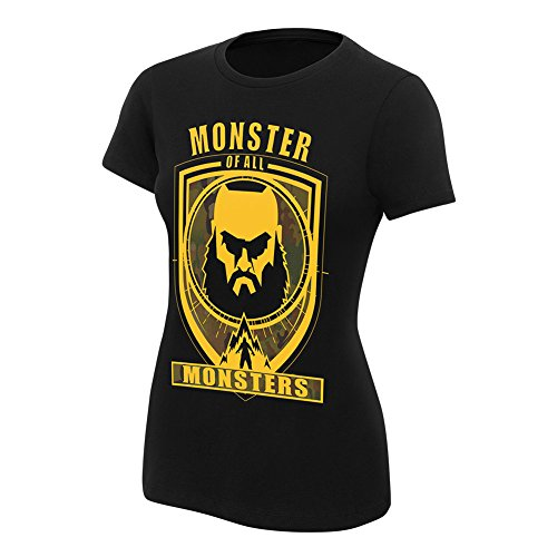 WWE Braun Strowman Monster Of All Monsters Women's Authentic T-Shirt Black XL by WWE Authentic Wear