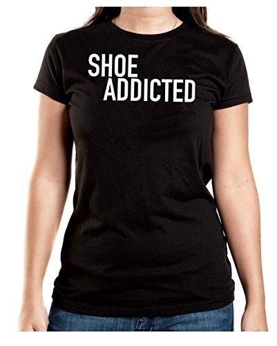Shoe Addicted T-Shirt Girls Black Certified Freak