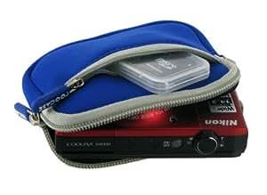 rooCASE Neoprene Sleeve (Dark Blue) Carrying Case for Panasonic Lumix DMC-FH25 Digital Camera