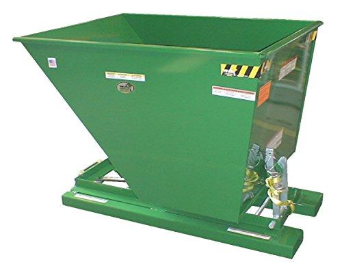 Vestil-D-50-LD-GRN-T-Self-Dump-LD-Hopper-05-cu-yd-2000-lb-Capacity-52-Length-335-Width-385-Height