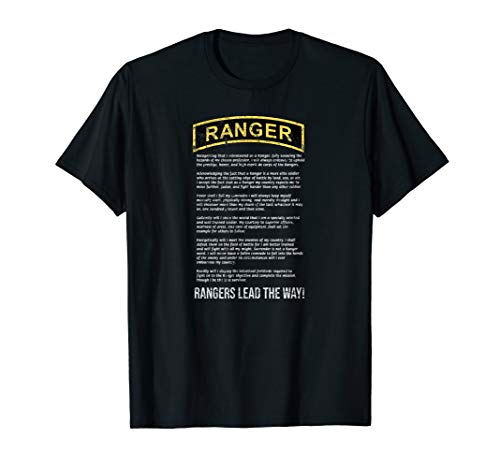 The Ranger Creed Vintage Army Ranger RLTW Military T-shirt]()