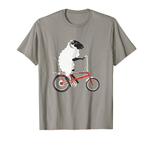 Cycling Tee Shirt - Lamb On Bicycle, Cycling Lamb Tee