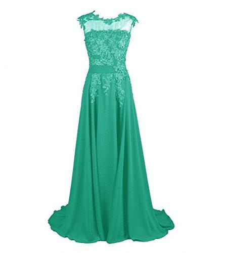 Beauty AK Appliques Green Evening Long Chiffon Women's Prom Dresses Adqn1rdxW