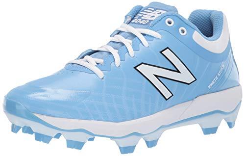 New Balance Men's 4040v5 Molded Baseball Shoe, Baby Blue/White, 6 2E US