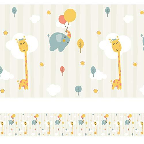 Faixa Decorativa Adesiva Infantil Animais Bichinhos 6mx15cm