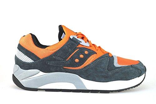 Chaussures Homme SAUCONY sneakers Orange Gris daim Textile AJ975