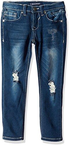 Vigoss Girls' Big 5 Pocket Skinny Jean, Pebble, 12