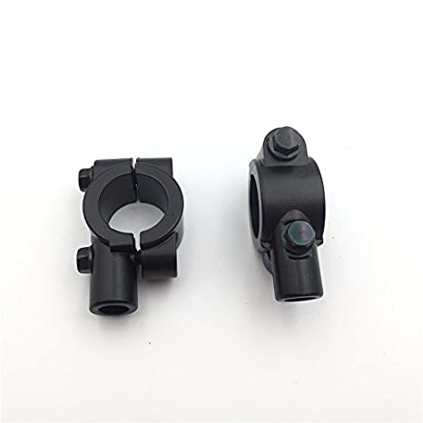 Handlebar 10mm Thread Mirror Base Block Mounts For Motorcycle Bike Accessory GH