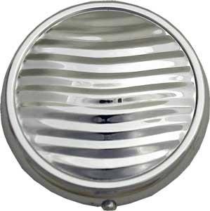 Silver Tone Round Pill Box - Wavy Pattern