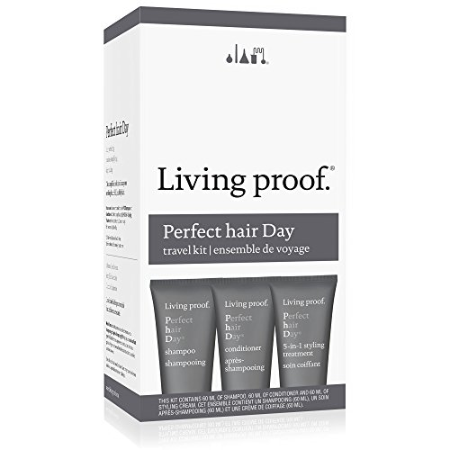 Living Proof Perfect Hair Day (PHD) Travel Kit : Shampoo 2 oz + Conditioner 2 oz + 5-in-1 Styling Treatment 2 oz 3pcs