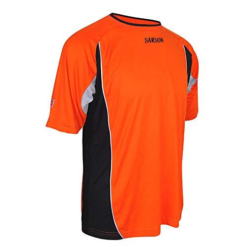 Soccer Goalie Jersey Short-Sleeve - Quick-Drying - Lightweight - Side Mesh Orange