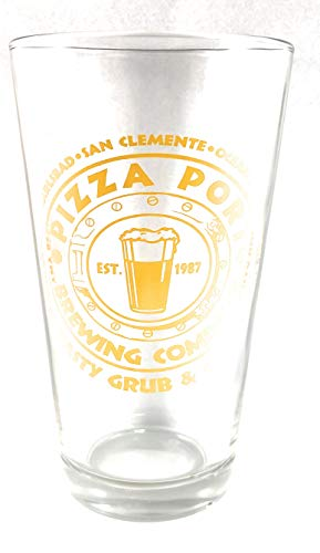Pizza Port Brewing Company Yellow Logo Pint Glass