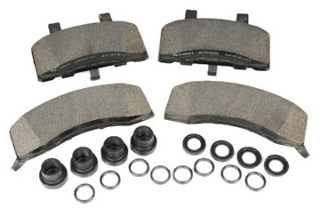- ACDelco 171-598 GM Original Equipment Front Disc Brake Pad Kit with Brake Pads, Seals, and Bushings