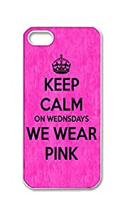 BlackKey keep calm on wednesdays we wear pink Snap-on Hard Back Case Cover Shell for iPhone 5 5G 5s -837