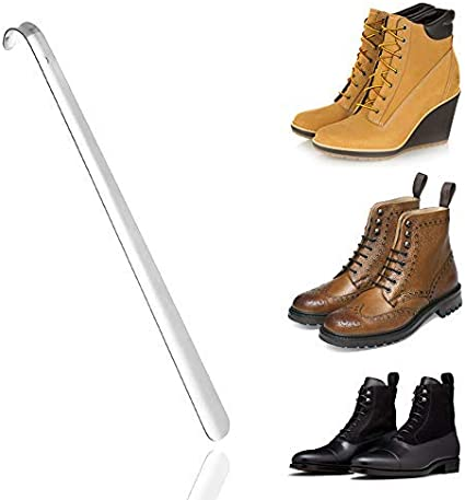 Extra Long Metal Shoe Boot Horn Heavy Duty Stainless Steel Shoehorn Shoes