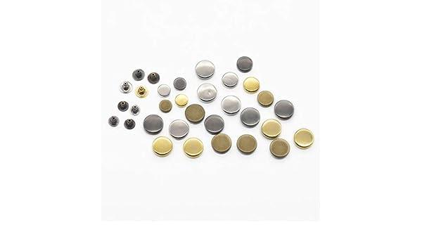 Punk 10 mm 100 Remaches Redondos de Metal para Remaches de 8 mm 12 mm micoshop Rock para decoraci/ón de Bolsas de Piel de Moto