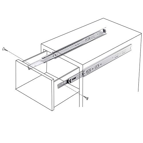 Cuaulans 10 Pair 22'' Full Extension Side Mount Ball Bearing Sliding Drawer Slides, Mounting Screws Included, Available in 10'', 12'', 14'', 16'', 18'', 20'' and 22'' Lengths by Cuaulans (Image #8)