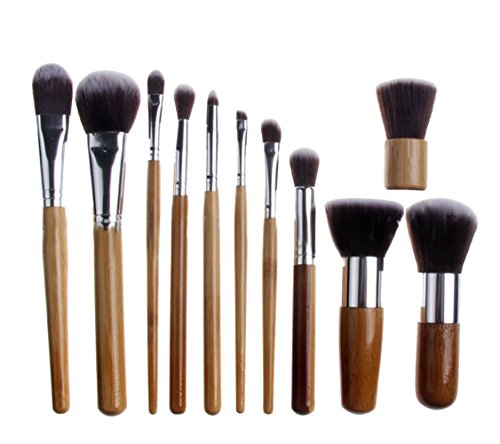 niceEshop(TM) Professional Bridal Women Cosmetic Makeup Brush Set Beauty Tools with Bag,Set of 11