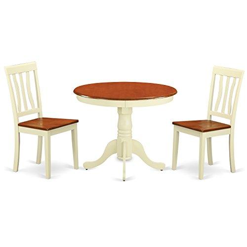 Amazon.com: East West Furniture ANTI3-WHI-W 3-Piece