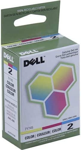 DELL 7Y745 Color Ink Cartridge for Dell A940 and A960 Printers Series 2 Remanufactured