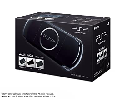 SONY PSP Playstation Portable Console JAPAN MODEL PSP-3000 Piano Black Value Pack | PSPJ-30023 (Japan Import)