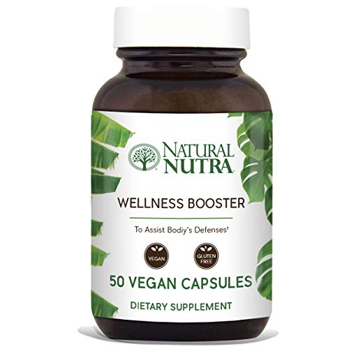 Natural Nutra Wellness and Immune Booster Herbal Extract: Echinacea, Goldenseal, Ginger, Licorice Root, Cayenne, Reishi and Shiitake Powder, Fennel, Red Clover, Chamomile, Parsley, 50 Vegan Capsules For Sale