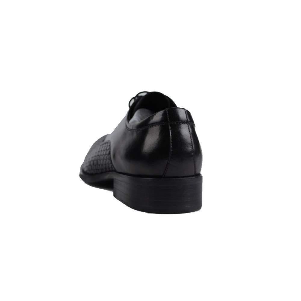Männer Business Lederschuhe Koreanische Version Niedrig Schnürung Top Schuhe Bequeme Atmungsaktive Schnürung Niedrig Wild Braun 095980