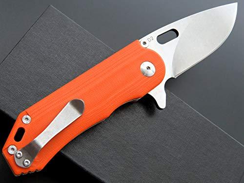 Eafengrow Pocket Knives D2 Blade G10 Handle Folding Camping Knife Mini Outdoor Pocket Knife Survival Tool (EF32-orange) by Eafengrow (Image #3)