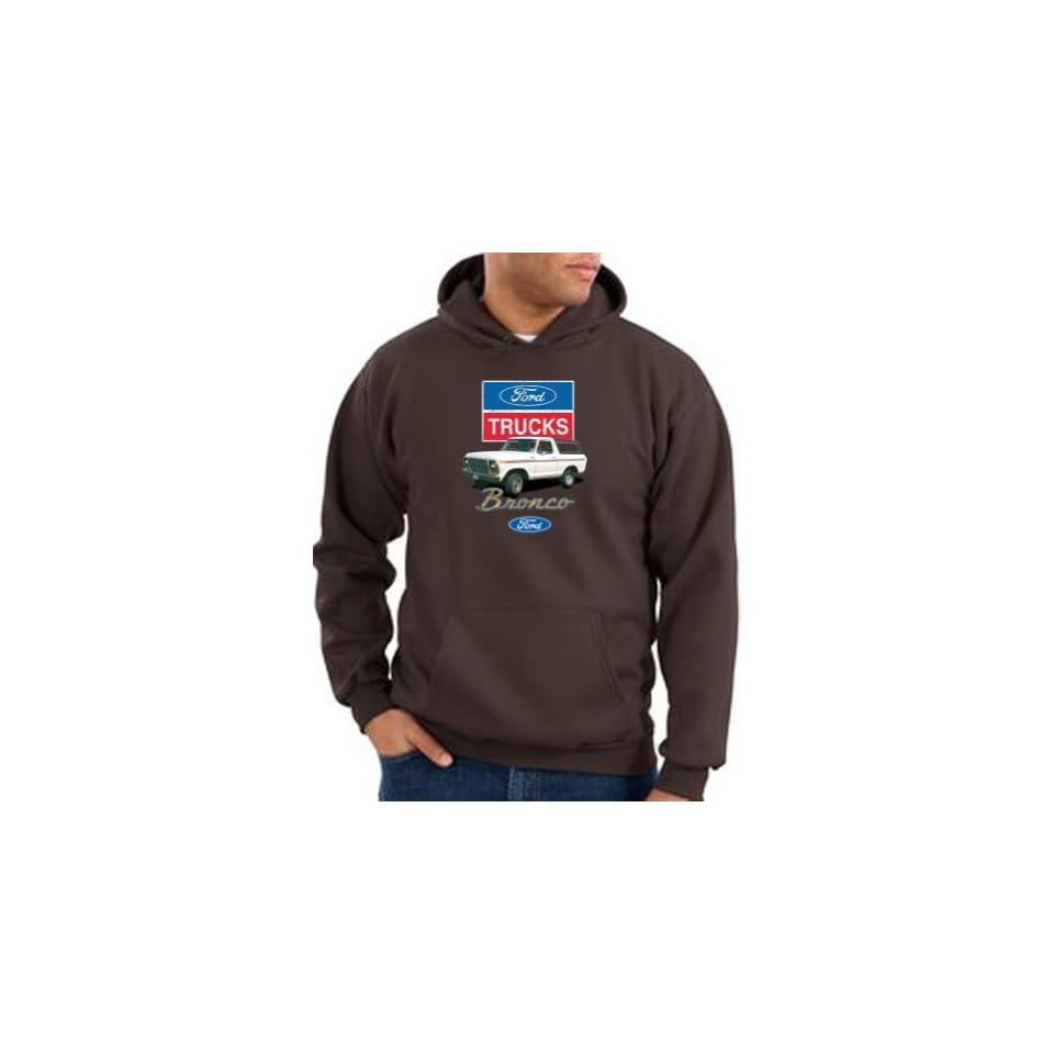 Ford Truck BRONCO 4x4 Classic Adult Hooded Pullover Sweatshirt Hoodie Hoody   Brown Clothing