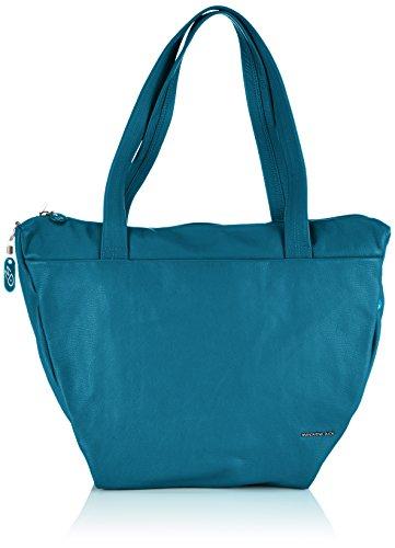 MANDARINA DUCK Backpack Montreal Ful-grain calfskin leather Backbag (One Size, Teal) by Mandarina Baclkpack