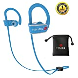 Bluetooth Earbuds,Best Wireless Sport Headphones Hbuds H1 w/ Mic IPX7 Waterproof HD Stereo for Running Workout Gym 9 Hour Long Battery Life Noise Cancelling Headsets Comfortable Secure Fit (Blue)