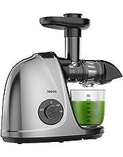 Jocuu Extracteur de Jus de Fruits et Légumes Slow Juicer Sans BPA avec Fonction Reverse et Double Vitesse de Rotation, Brosse Incluse