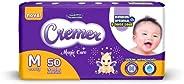 Fralda Cremer, M, Mega, pacote de 50 (Embalagem pode variar)