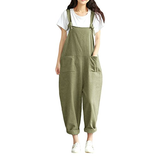 Pocket Trouser (Romacci Women's Strap Overall Pockets Bib Baggy Playsuit Pants Casual Sleeveless Jumpsuit Trousers)