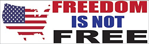 - Rogue River Tactical RR-2003 Patriotic Bumper Sticker, Auto Decal Freedom is Not Free, USA Flag America Freedom is Not Free, 10'' L x 3'' W