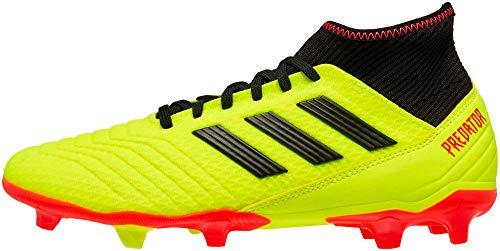 Adidas Predator 18.3 - Zapatillas de fútbol para Hombre, Negro, Amarillo, (Solar Yellow/Black/Solar Red), 8.5 M US